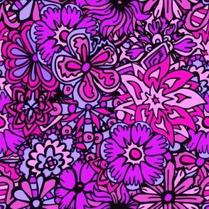 Purple Hippy Flowers