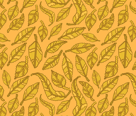 Blocky Autumn Leaves fabric by antonybriggs on Spoonflower - custom fabric