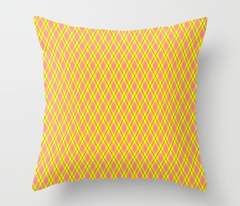 Pink and Yellow Argyle