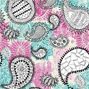 Paisley Tile (Pink)