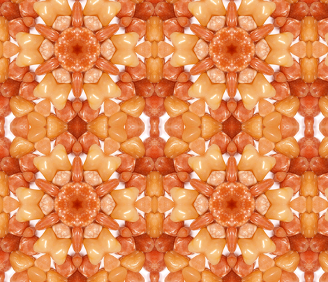 Fall colors kaleidoscope - Aventurine fabric by robinzeggblu on Spoonflower - custom fabric