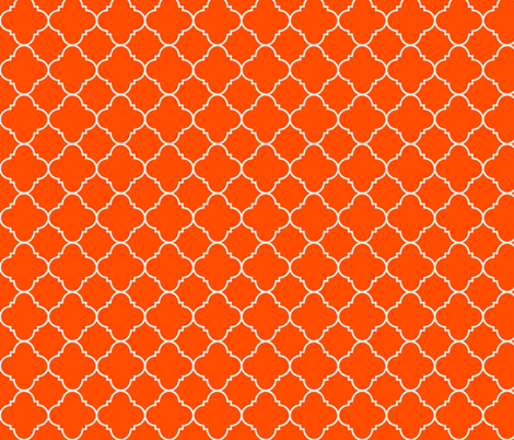 harvest orange quatrefoil fabric by evenspor on Spoonflower - custom fabric