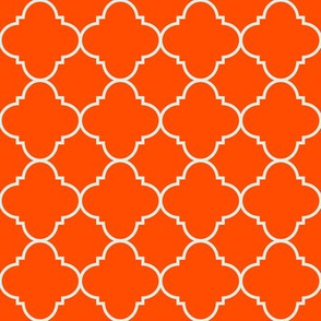 harvest orange quatrefoil