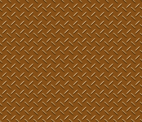 Copper Diamond Plate fabric by evenspor on Spoonflower - custom fabric