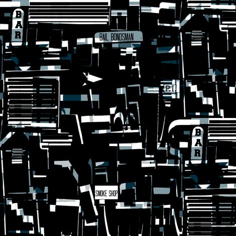 City Noir fabric by boris_thumbkin on Spoonflower - custom fabric