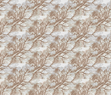 Tree_Branches_Brown fabric by upcyclepatch on Spoonflower - custom fabric