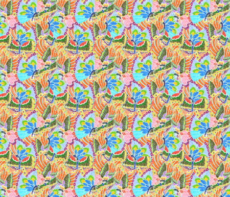 Butterfly Kaleidoscope fabric by lydia_meiying on Spoonflower - custom fabric