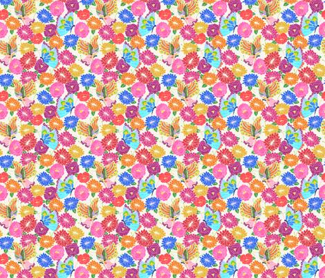 Butterflies & Flowers fabric by lydia_meiying on Spoonflower - custom fabric