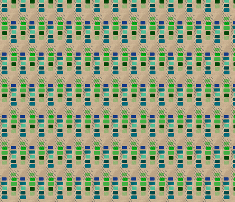 Blue and Green Building Blocks fabric by jelder on Spoonflower - custom fabric