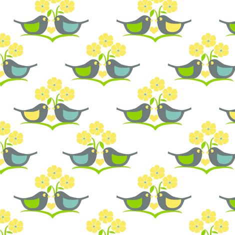 Bird love  fabric by alfabesi on Spoonflower - custom fabric