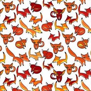 Christmas foxes
