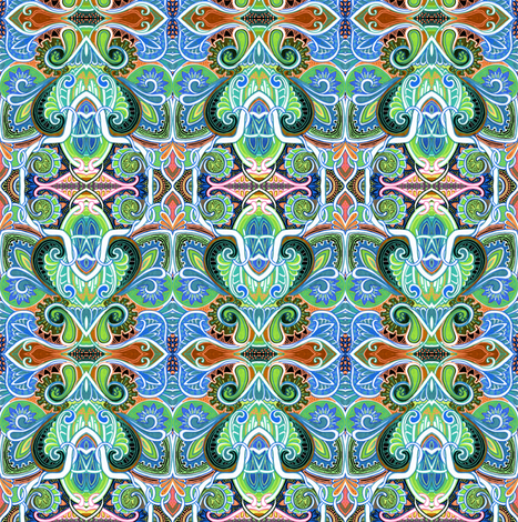 Let the Sprouting Begin fabric by edsel2084 on Spoonflower - custom fabric