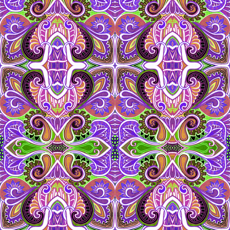 Psychedelic Victorian Heart fabric by edsel2084 on Spoonflower - custom fabric