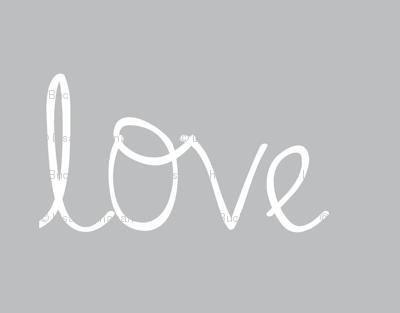 Love on mid grey