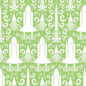 Rocket Science Damask (Green)