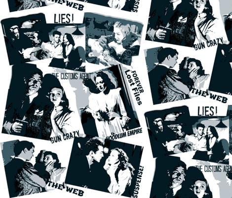 Film- Noir:The Fabric of Deceit! fabric by artland95 on Spoonflower - custom fabric