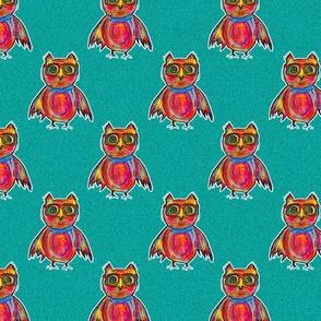 OWL WEARING GOGGLES Yard 4 in 1