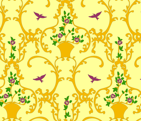happy place - sunlight fabric by glimmericks on Spoonflower - custom fabric