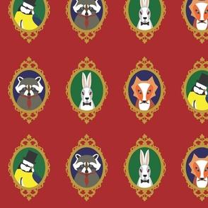 regal animals in frames