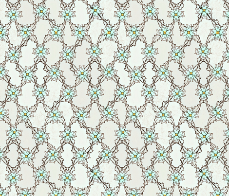 Autumn Leaves Argyle - Ethereal fabric by glimmericks on Spoonflower - custom fabric