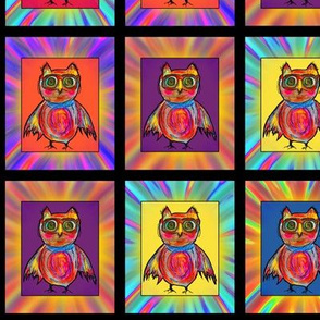 GOGGLES OWL HOOT CHECKERED PANEL Medium