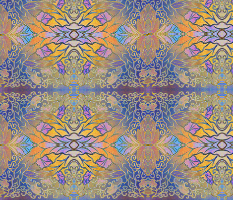 leaf_pattern_design2 fabric by penelopeventura on Spoonflower - custom fabric