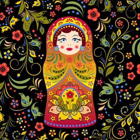 matryoshka fabric by kiyanochka on Spoonflower - custom fabric