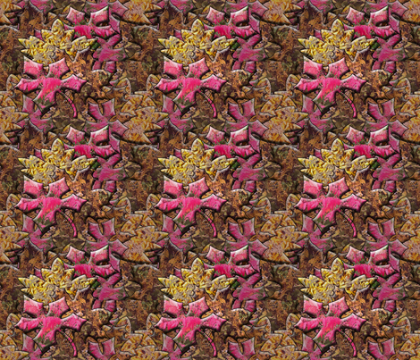 Autumn Leaves with a Stained Glass Effect fabric by anniedeb on Spoonflower - custom fabric