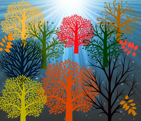 trees and more fabric by amlars on Spoonflower - custom fabric