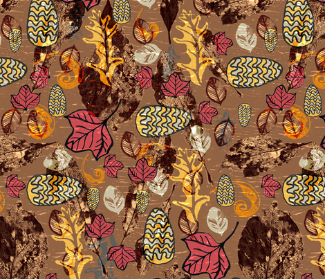 A Carpet of Leaves fabric by slumbermonkey on Spoonflower - custom fabric