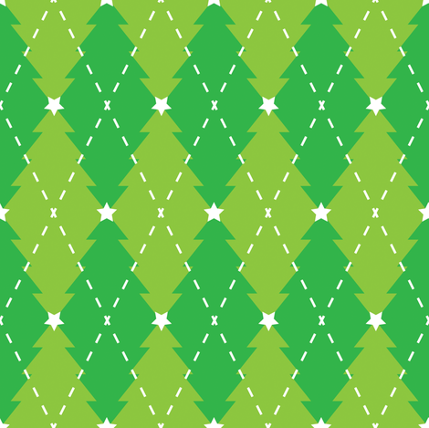 oh argyle tree fabric by meglish on Spoonflower - custom fabric