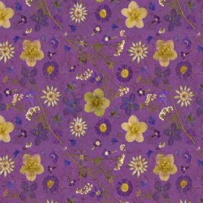 Pressed Flowers on Fabric