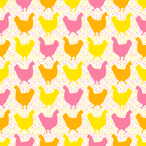 Happy Chickens fabric by robyriker on Spoonflower - custom fabric