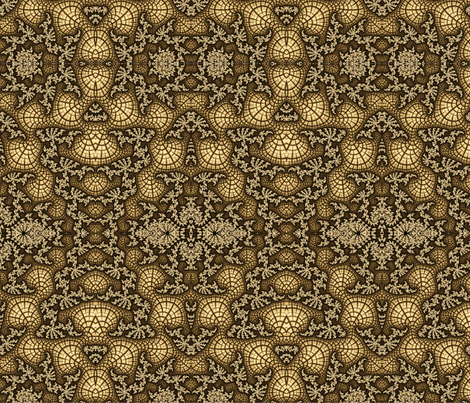 Gold Fractal Swirl fabric by staceyjoy on Spoonflower - custom fabric