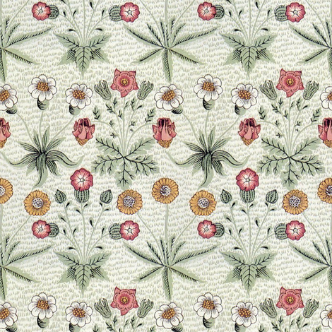 William Morris Daisy ~ Original Colors fabric by peacoquettedesigns on Spoonflower - custom fabric