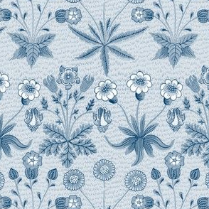 William Morris Daisy ~ Lonely Angel Blue and White