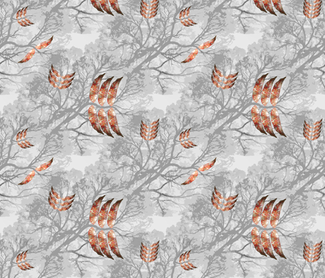 Grey Fall fabric by upcyclepatch on Spoonflower - custom fabric