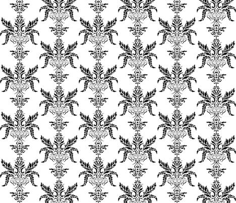 Vintage Black fabric by craftydevil on Spoonflower - custom fabric