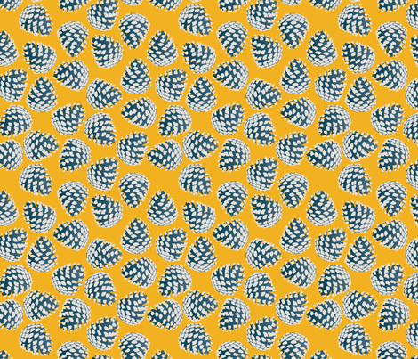 pine cone (dawn) fabric by makemightswave on Spoonflower - custom fabric
