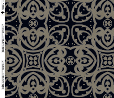 RSD Midnight Aztec fabric by rebekahscottdesigns on Spoonflower - custom fabric