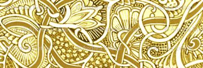 Medieval Tapestry in Mustard Sand
