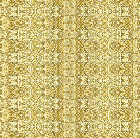 Medieval Tapestry in Mustard Sand fabric by edsel2084 on Spoonflower - custom fabric