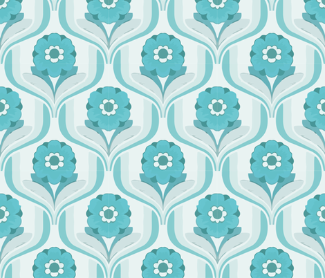 into my arms teal fabric by myracle on Spoonflower - custom fabric