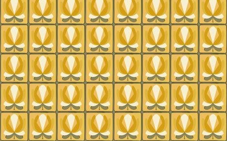 lilly yellow fabric by myracle on Spoonflower - custom fabric
