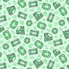 emerald green gems