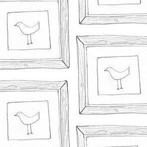 framed bird