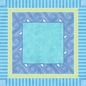 Greek Key square tablecloth