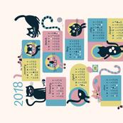 2018 Cat Calendar