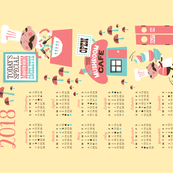 2018 Mushroom Calendar