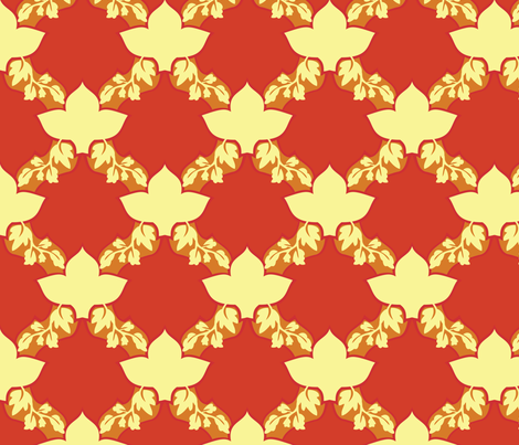 Fall Leafs Pattern fabric by shimmermotif on Spoonflower - custom fabric